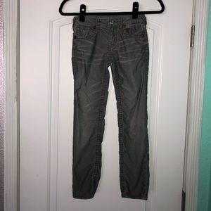 True Religion girls Julie cord jeans 8